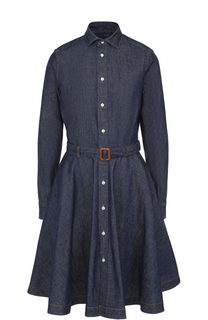 Джинсовое платье-рубашка с поясом Polo Ralph Lauren