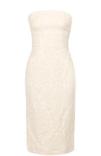 Приталенное платье-бюстье с фактурной отделкой Tara Jarmon