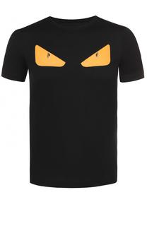 Хлопковая футболка с аппликацией Bag Bugs Fendi
