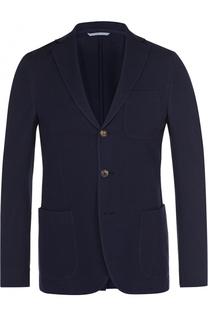 Хлопковый однобортный пиджак malo