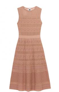 Приталенное вязаное платье-миди без рукавов M Missoni