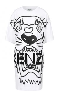 Мини-платье свободного кроя с контрастным принтом Kenzo
