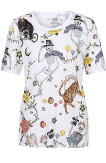 Льняная футболка с круглым вырезом и ярким принтом Zadig&Voltaire Zadig&Voltaire
