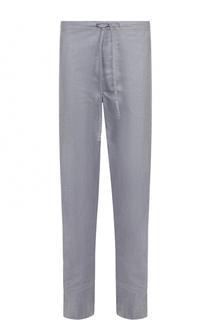 Домашние хлопковые брюки свободного кроя с поясом на резинке Zimmerli