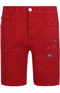 Джинсовые шорты с декоративными потертостями Frankie Morello