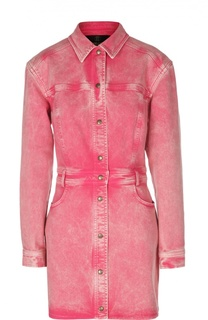Джинсовое платье-рубашка с карманами Roberto Cavalli