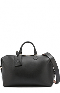 Кожаная дорожная сумка с плечевым ремнем Ralph Lauren