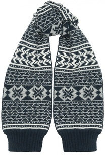 Вязаный шарф с узором Dirk Bikkembergs