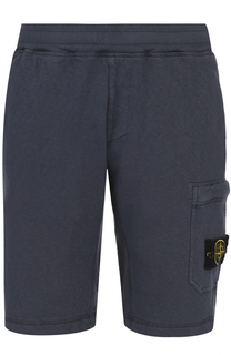 Хлопковые шорты с накладным карманом Stone Island