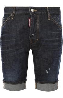 Джинсовые шорты с отворотами Dsquared2