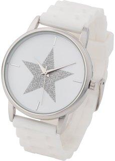 Наручные часы на силиконовом браслете (розовый жемчуг) Bonprix