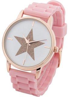 Наручные часы на силиконовом браслете (белый) Bonprix