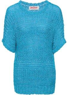 Пуловер из структурной пряжи (серый меланж) Bonprix