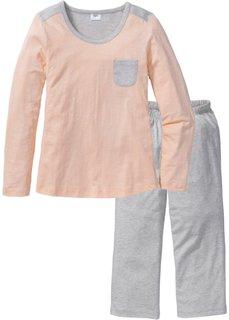 Пижама-капри (натуральный меланж/бежевый) Bonprix