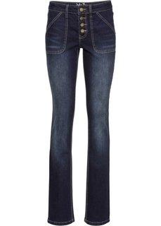 Прямые стрейтчевые джинсы, низкий рост (K) (синий) Bonprix