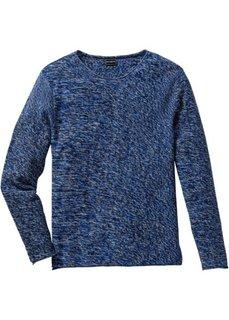 Пуловер Slim Fit (серый меланж) Bonprix