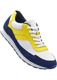 Кроссовки (ночная синь/лимонный/белый) Bonprix