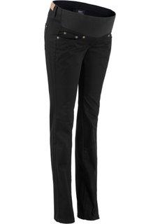 Для будущих мам: брюки заниженной посадки с прямыми брючинами (темно-синий) Bonprix