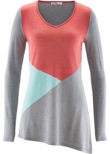 Асимметричный пуловер (темно-синий)