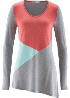 Асимметричный пуловер (темно-синий) Bonprix