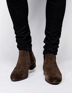 Замшевые ботинки ASOS Chelsea - Коричневый