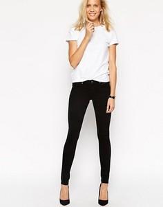 Черные зауженные джинсы с заниженной талией ASOS Whitby - Черный