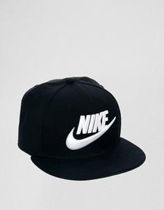 Бейсболка с логотипом Nike 584169-010 - Черный
