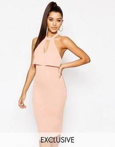 Платье-футляр миди 2-в-1 Naanaa - Розовый