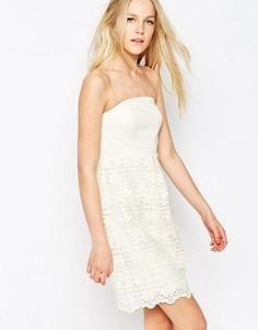 Кружевное платье с рукавами 3/4 Lavand - Кремовый