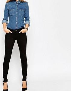 Черные джинсы скинни с классической талией ASOS Lisbon - Черный