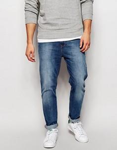 Суженные книзу выбеленные джинсы ASOS - Синий