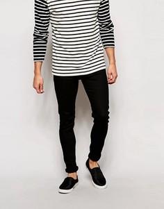 Черные джинсы скинни Weekday - Черный