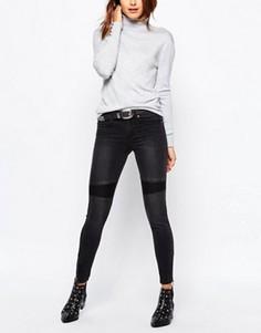 Облегающие байкерские джинсы Vila - Черный