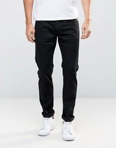 Черные эластичные джинсы слим Replay Anbass - Черный