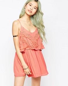 Платье на тонких бретельках Hazel - Розовый