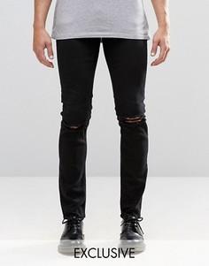 Черные джинсы скинни с рваной отделкой Cheap Monday - Черный
