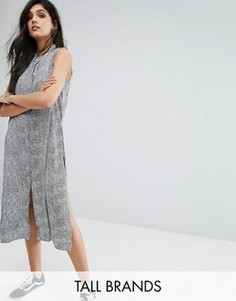 Платье-рубашка на пуговицах спереди Noisy May Tall - Мульти