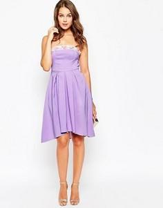 Расшитое бисером платье миди True Violet - Фиолетовый