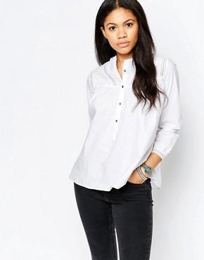 Белая рубашка с отделкой на кокетке M.i.h Jeans - Белый