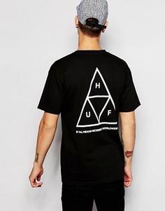 Футболка с тремя треугольниками HUF - Черный