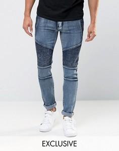 Облегающие джинсы скинни Liquor & Poker - Синий