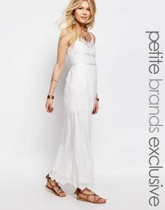 Кружевное платье макси White Cove Petite - Белый