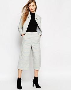 Клетчатая юбка-шорты с широкими штанинами ASOS - Серый
