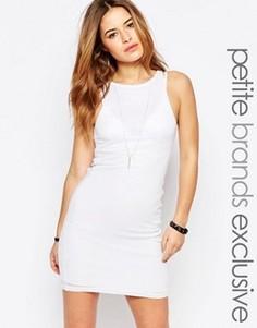 Облегающее платье в рубчик Noisy May Petite - Белый