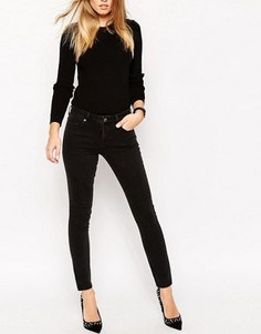 Выбеленные черные джинсы с прямого кроя ASOS - Черный
