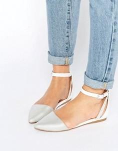 Туфли на плоской подошве с ремешком на щиколотке Call It Spring Cavizzano - Серебряный