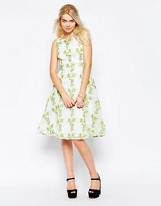 Платье с цветочным принтом Traffic People Twirl - Кремовый
