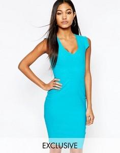 Платье-футляр миди с V-образным вырезом Vesper - Зеленый