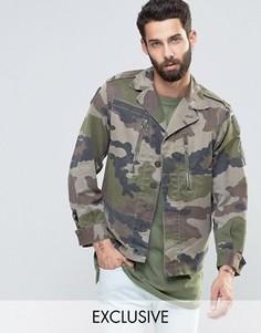 Куртка в стиле милитари с камуфляжным принтом Reclaimed Vintage Revived - Зеленый