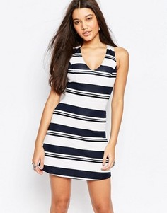 Платье-трапеция из неопрена в полоску Abercrombie & Fitch - Мульти